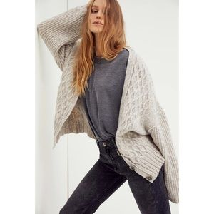 NWT Free People Molly Cable Knit Cardigan